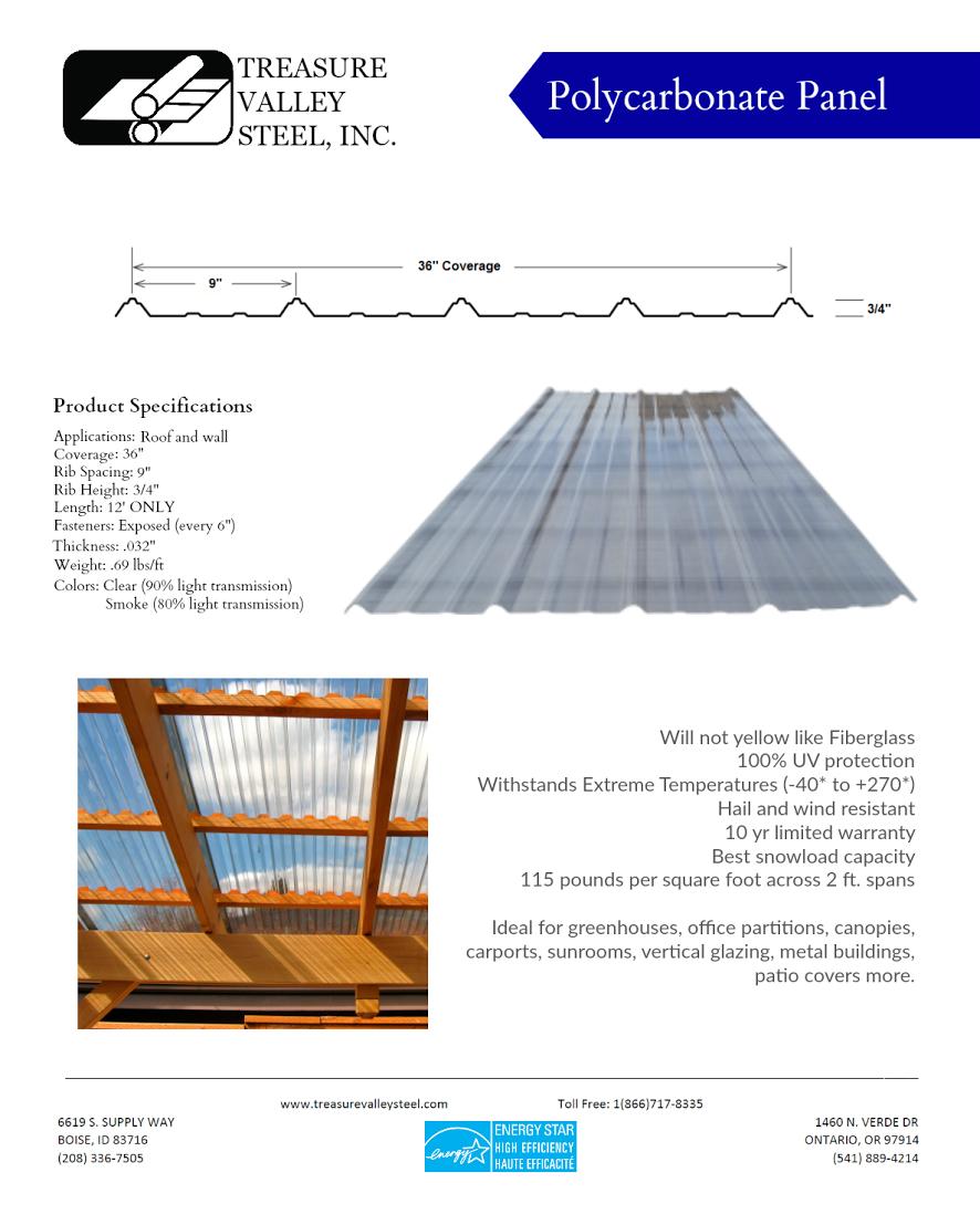 Our Steel Panels Treasure Valley Steel Inc