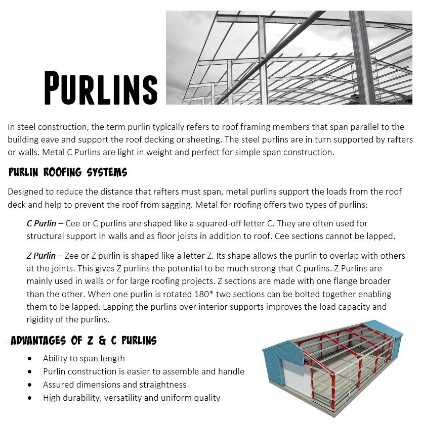 Purlin - Treasure Valley Steel, Inc